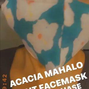 Newly made mahalo acacia mask